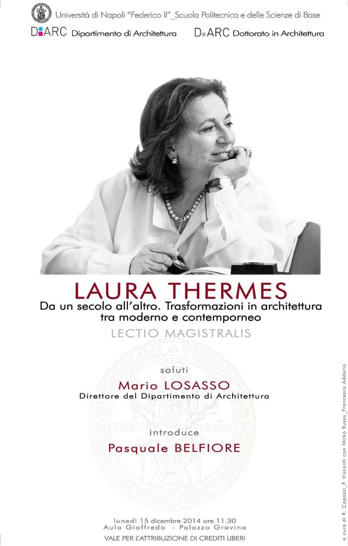 locandina lectio Laura Thermes imagecredits diarc.unina.it