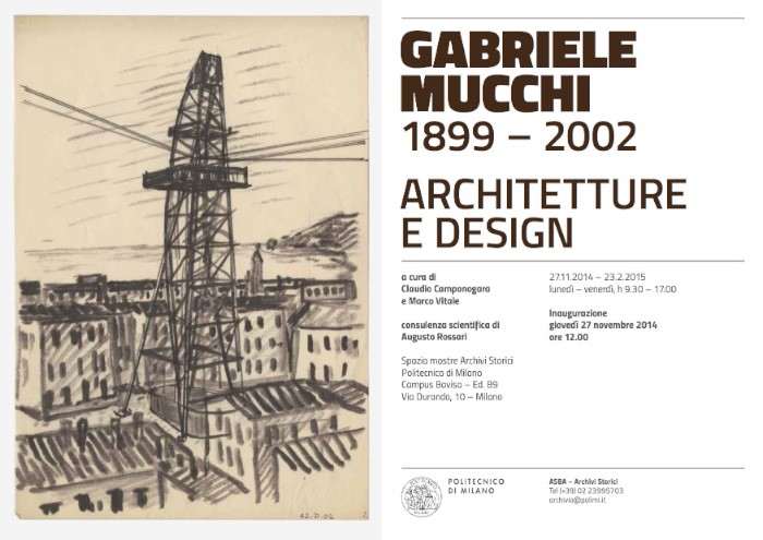 locandina mostra Gabriele Mucchi Milano imagecredits polimi.it