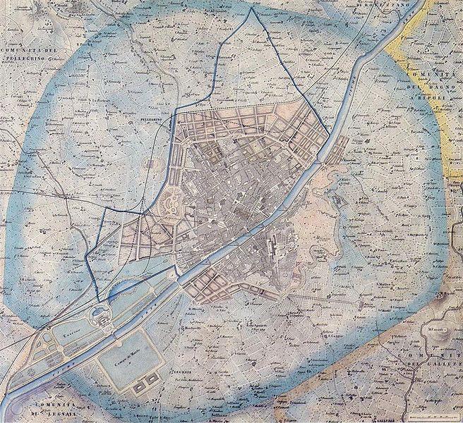 Giuseppe Poggi piano di Firenze 1865 imagecredits CC PD