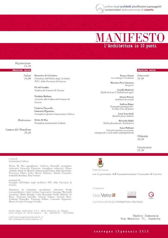 poster Manifesto. l'Architettura in 10 punti imagecredits ordinearchitetticaserta.it