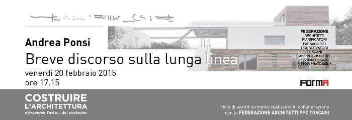 invito Andrea Ponsi Breve discorso sulla lunga linea Firenze imagecredits spazioafirenze.it