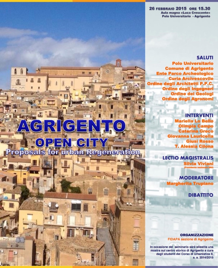 locandina Agrigento Open City imagecredits FIDAPA sezione di Agrigento