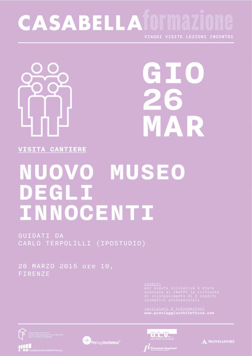 CASABELLA formazione visita Nuovo Museo degli innocenti Firenze PVA