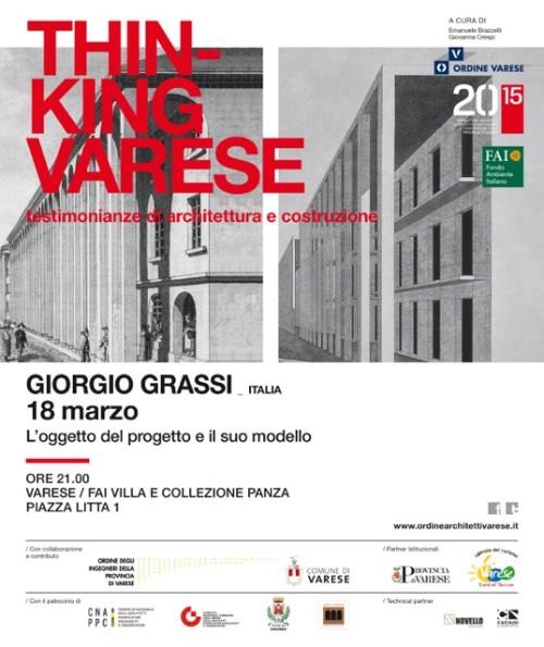 Invito conferenza Giorgio Grassi Varese imagecredits ordinearchitettivarese.it
