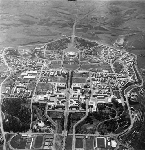 Veduta aerea del quartiere, 1961. Archivio Storico Fotografico EUR S.p.A