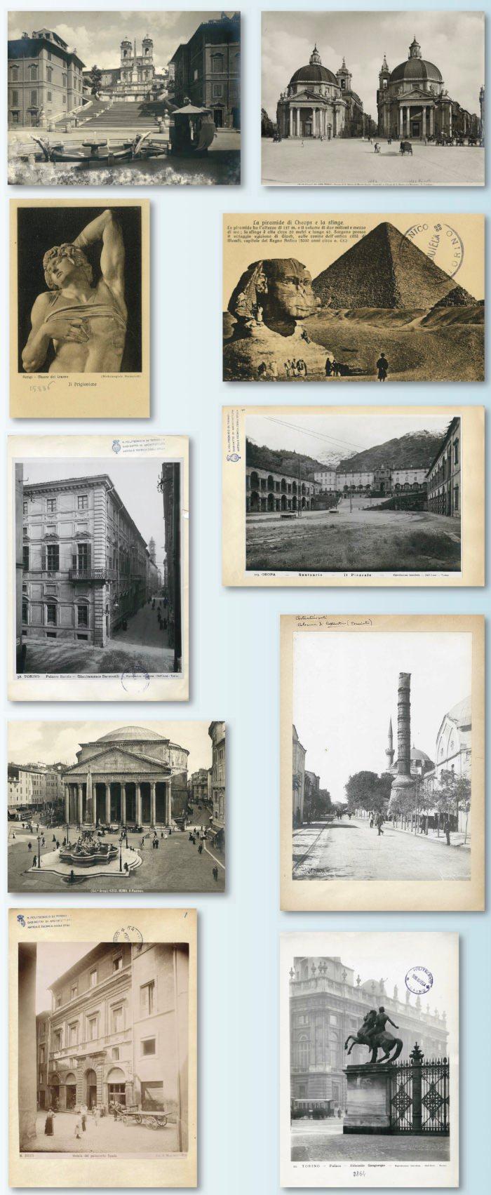 dalla locandina il Gabinetto di Architettura antica e Tecnica degli stili imagecredits polito.it