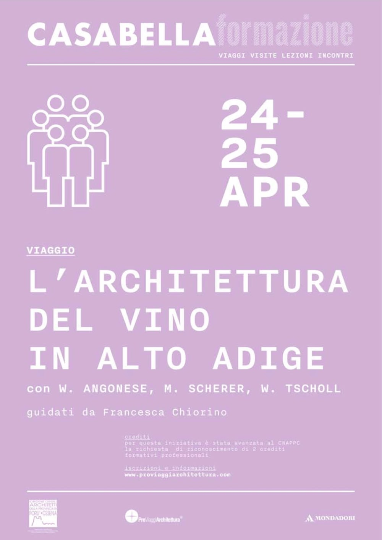 locandina L'architettura del vino in Alto Adige