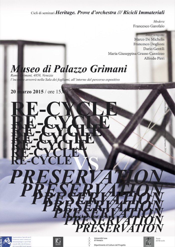 locandina Re-Cycle VS Preservation imagecredits recycleitaly.it