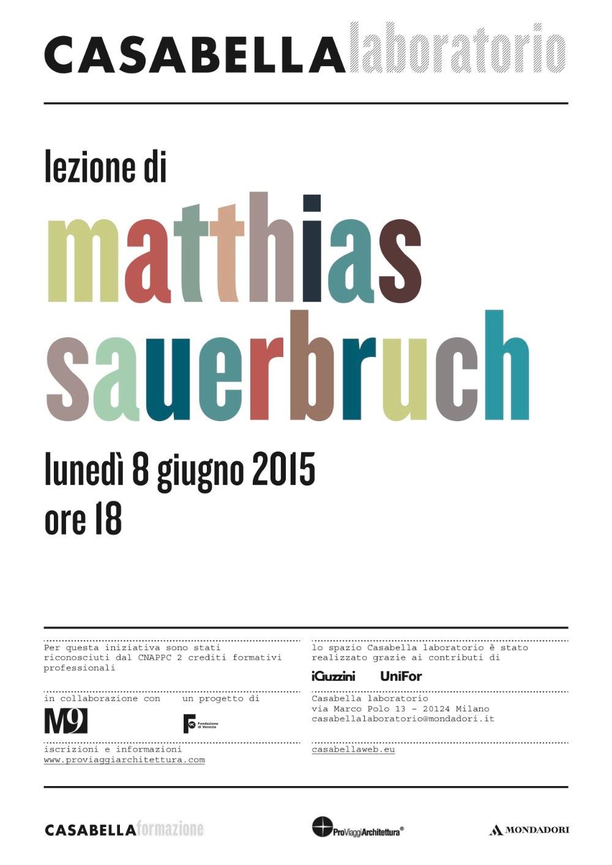 Matthias Sauerbruch CASABELLA laboratorio