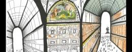dettaglio-da-Saul-Steiberg-Galleria-di-Milano-1951-private-collection-imagecredits-The-Saul-Steinberg-Foundation-ARS-NY-courtesy-polimi.it_