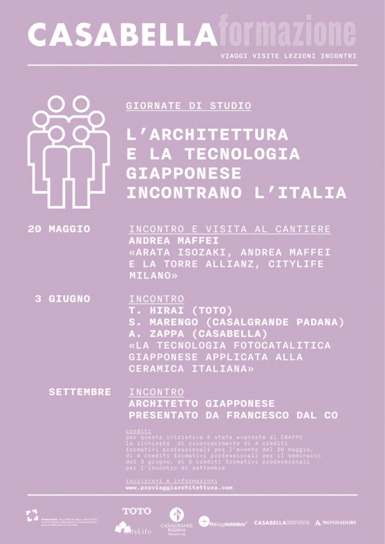 l'architettura e la tecnologia giapponese incontrano l'Italia a