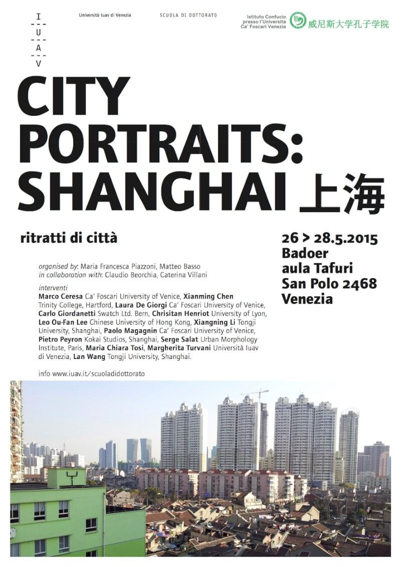 locandina City Portrait Shanghai IUAV imagecredits iuav.it