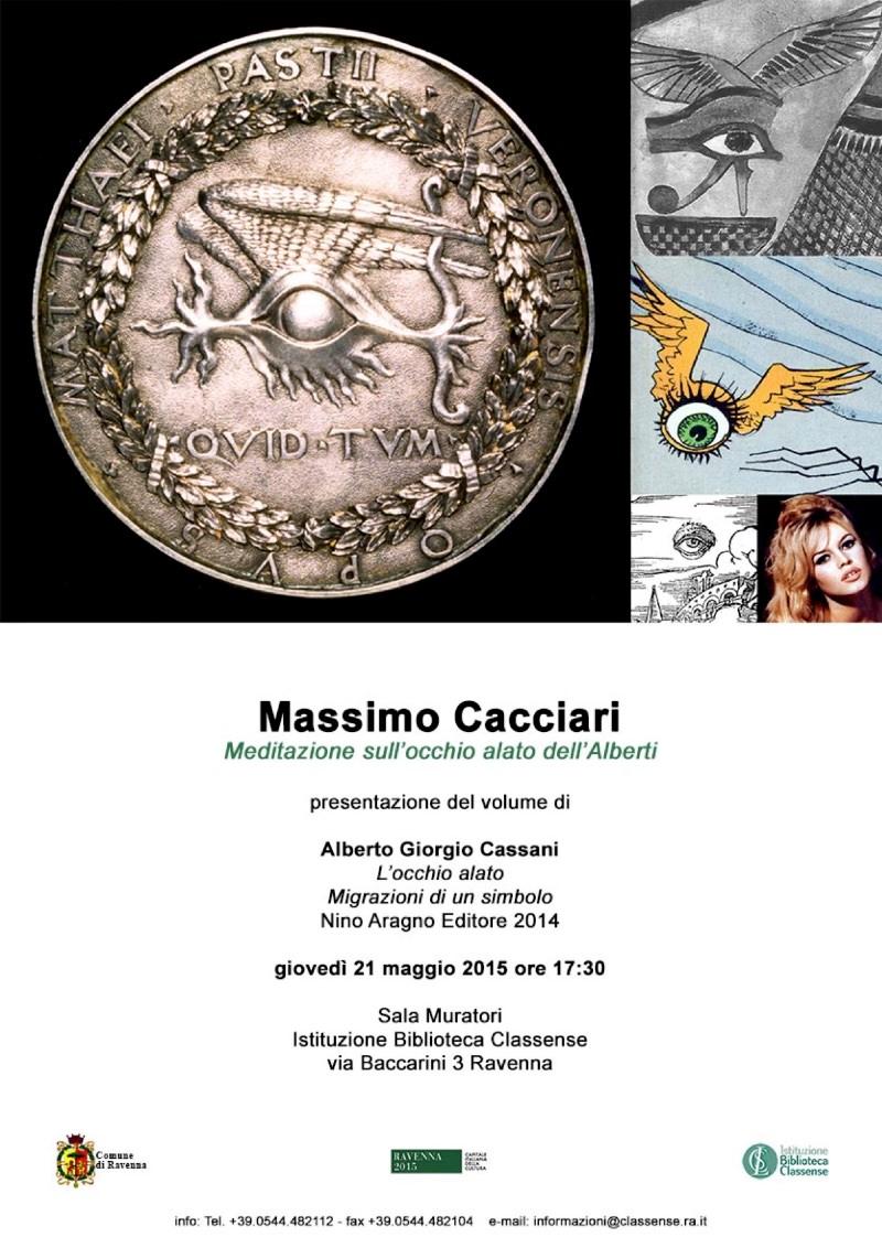 locandina Massimo Cacciari Ravenna Meditazione sull'occhio alato dell'Alberti Ravenna imagecredits classense.ra.it