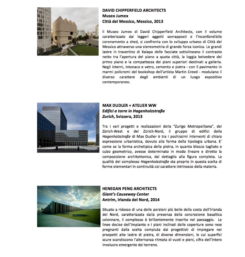 Architecture in Stone XIV International Award 2015 2