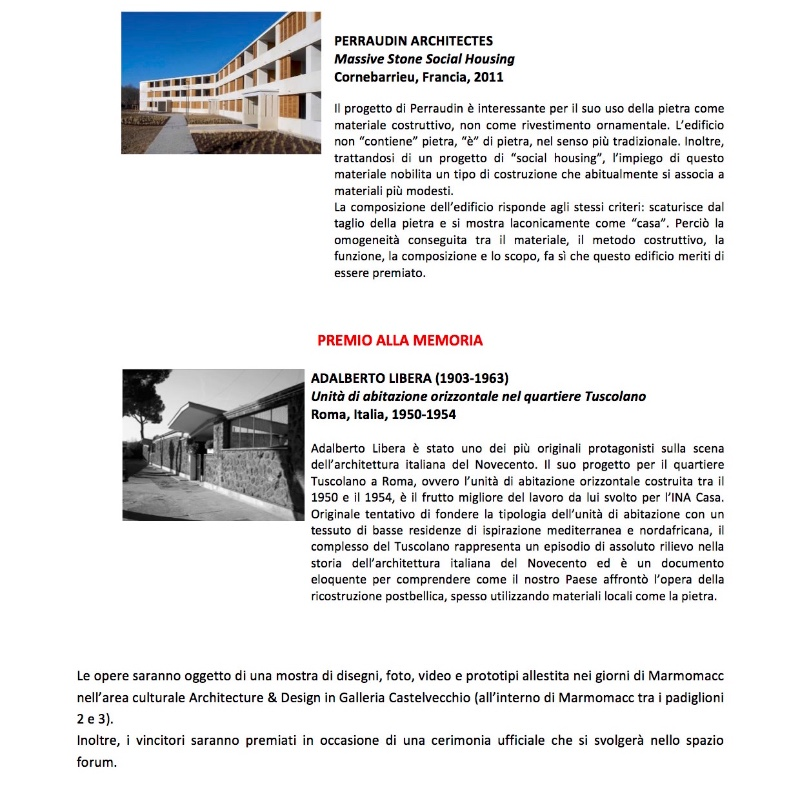Architecture in Stone XIV International Award 2015 3