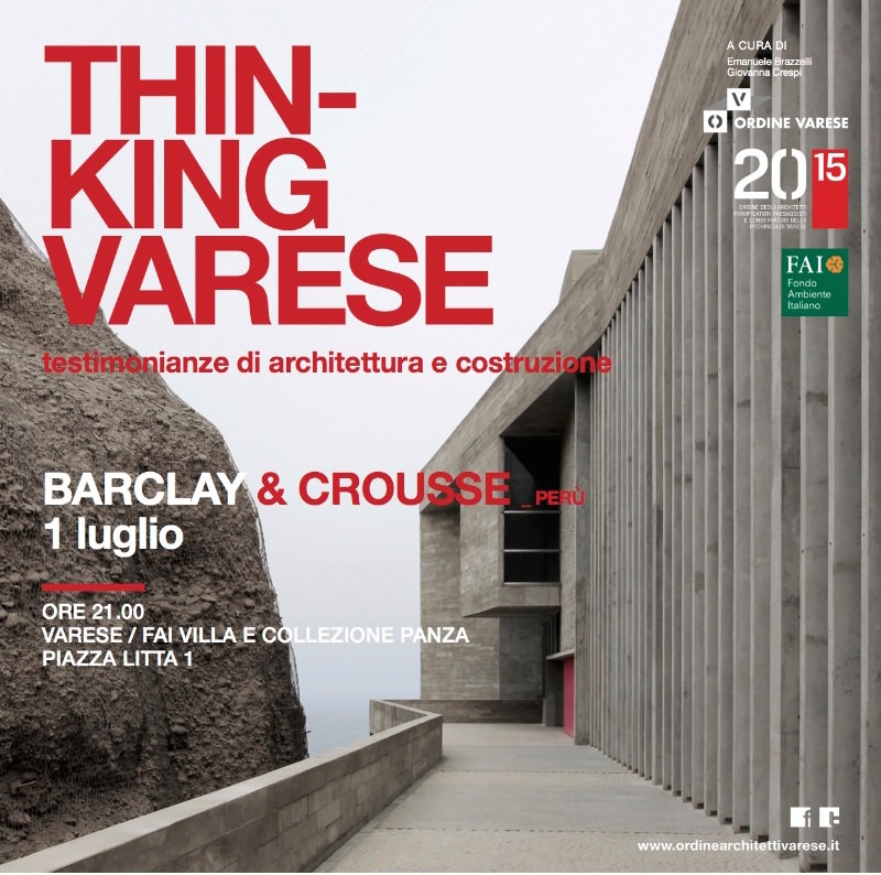 invito Barclay & Crousse Varese imagecredits ordinearchitettivarese.it