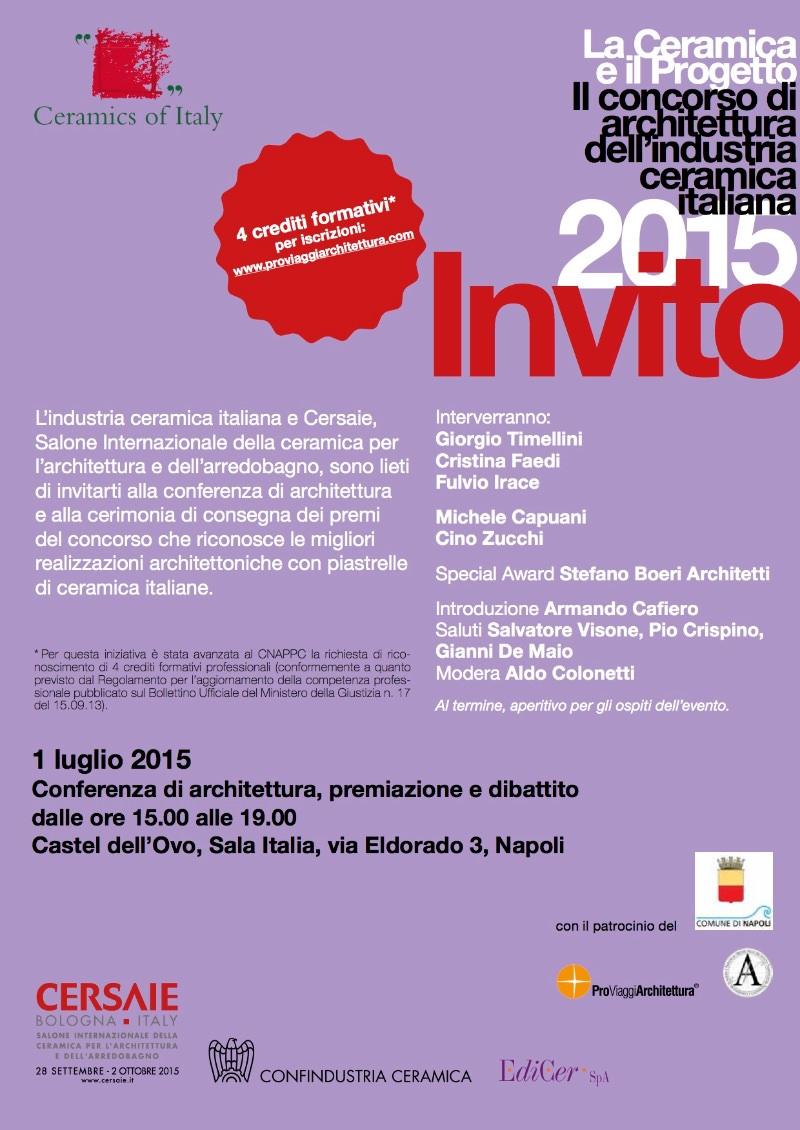 invito la Ceramica e il Progetto IV edizione 2015 imagecredits laceramicaeilprogetto.it