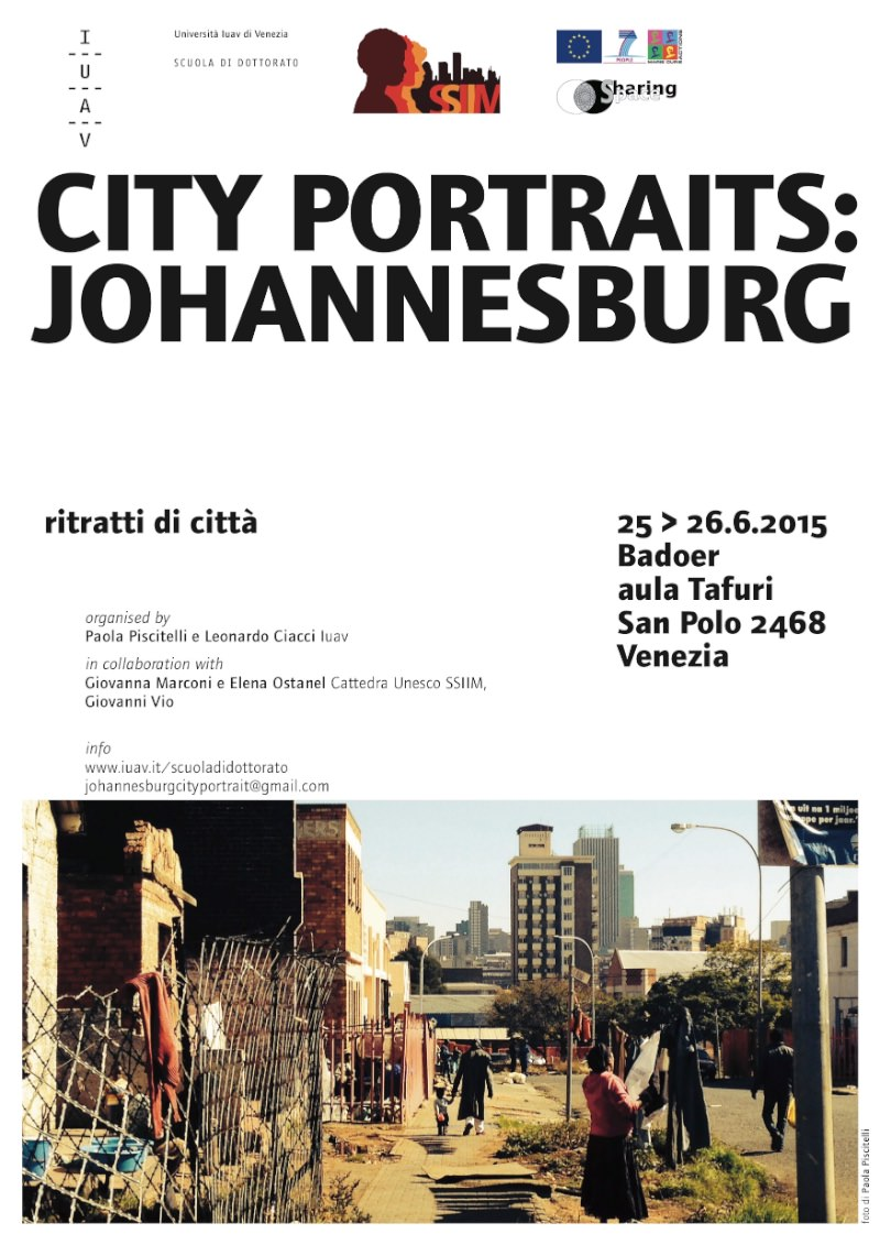 locandina City Portraits Johannesburg IUAV imagecredits iuav.it