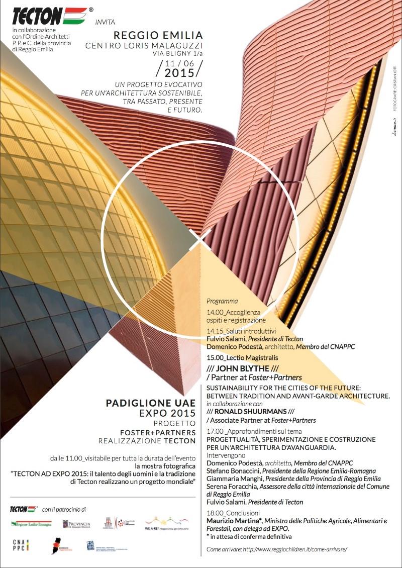 locandina Padiglione UAE EXPO 2015 Reggio Emilia imagecredits tecton.it
