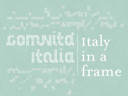 Italy in a frame Comunità Italia Triennale Milano imagecredits triennale.org