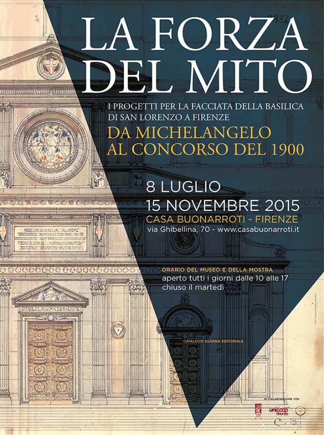 poster mostra La forza del mito Firenze imagecredits casabuonarroti.it
