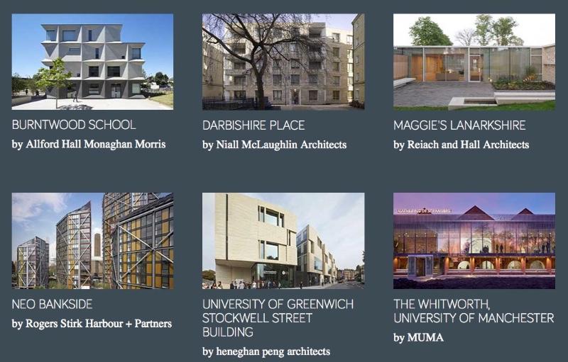 i sei finalisti del RIBA Stirling Prize 2015 imagecredits architecture.com