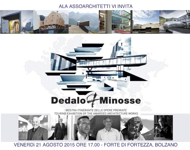 invito inaugurazione mostra itinerante Dedalo Minosse Forte Fortezza BZ imagecredits dedalominosse.org