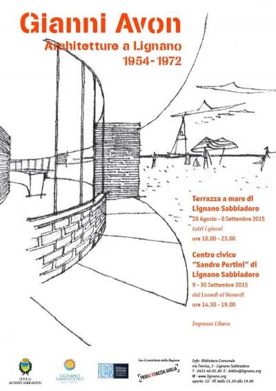 locandina Gianni Avon Architetture a Lignano imagecredits lignano.org
