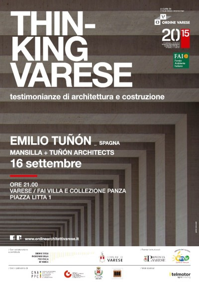 poster conferenza Emilio Tuñón Varese 2015 imagecredits ordinearchitettivarese.it