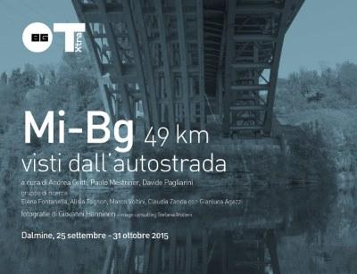 cartolina invito Mi-Bg 49 km visti dall'autostrada imagecredits fondazione.dalmine.it.