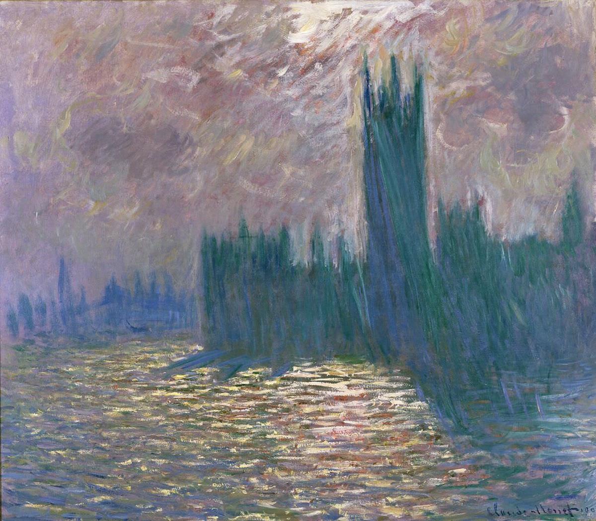 Monet Londra Il Parlamento Riflessi sul Tamigi 1905