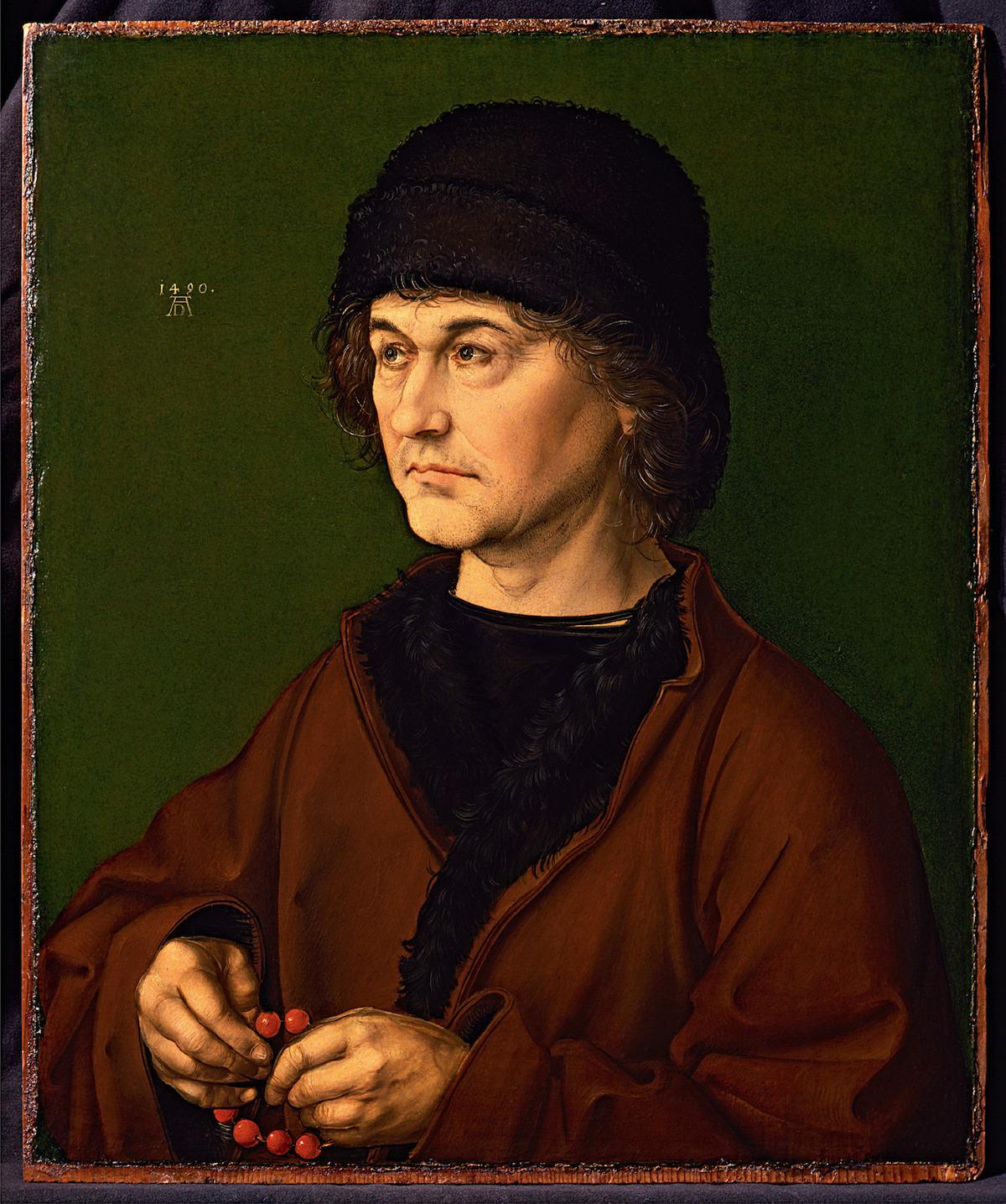 Albrecht Dürer Ritratto di Albrecht Dürer il vecchio 1490
