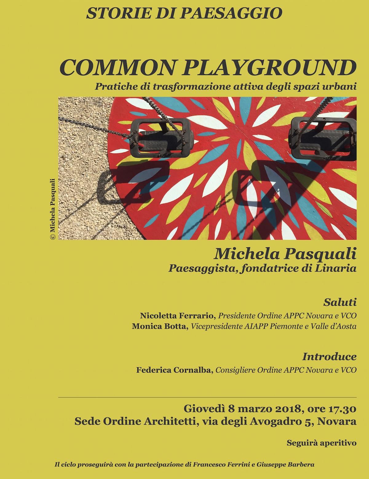 Common Playground. Pratiche di trasformazione attiva degli spazi urbani