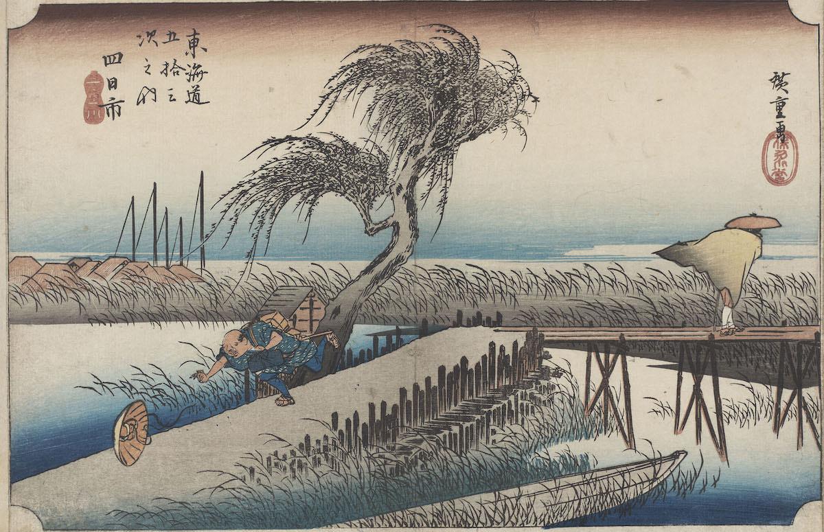 Hiroshige Yokkaichi. Fiume Mie