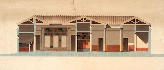 Pietro Bianchi Ricostruzione della Casa del Fauno a Pompei 1832-44