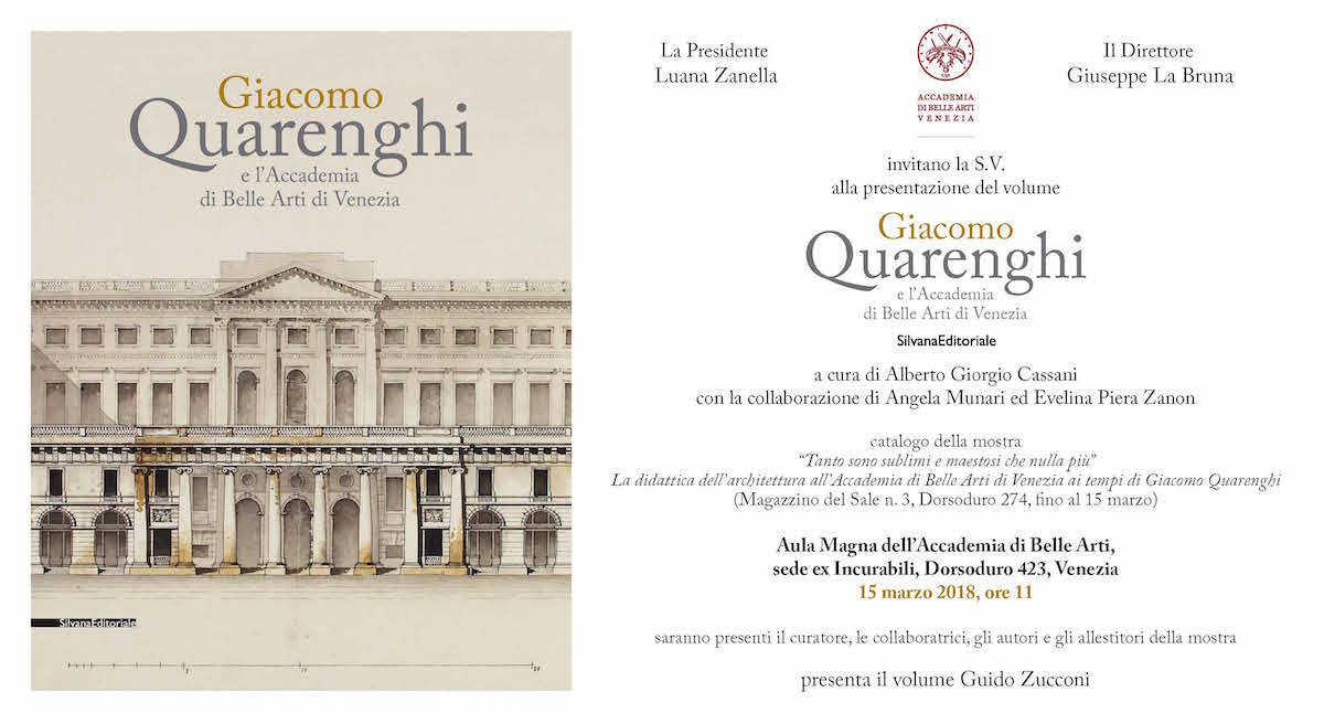 Giacomo Quarenghi e l'Accademia di Belle Arti di Venezia