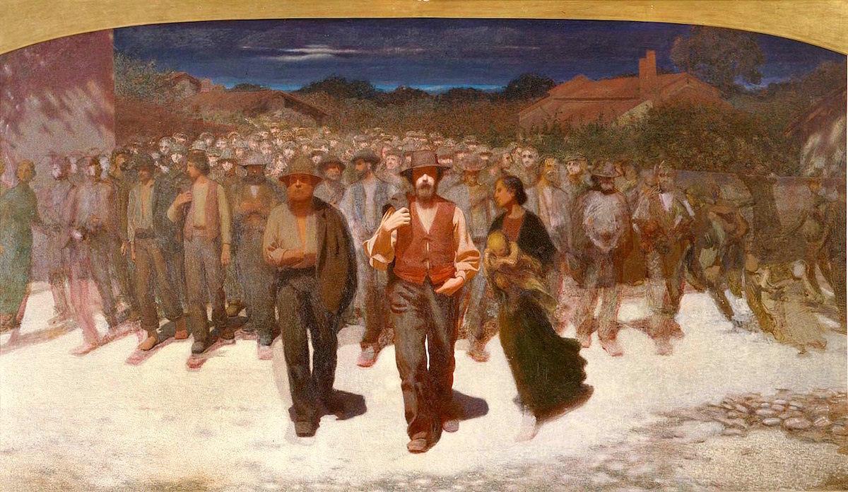 Giuseppe Pellizza da Volpedo La fiumana studio per Il Quarto Stato 1895-6