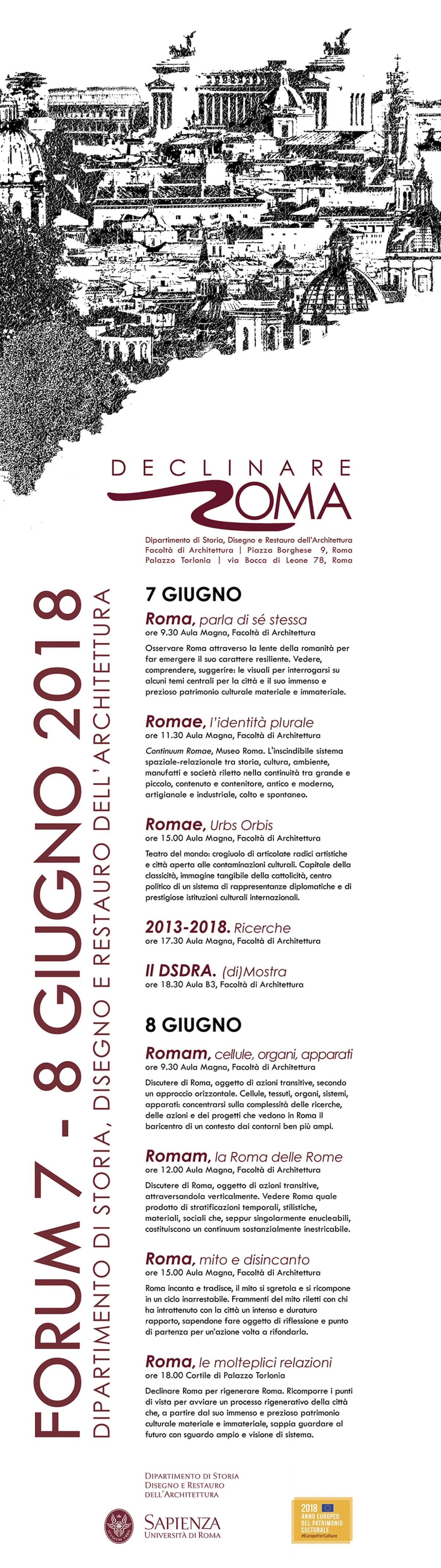 Declinare Roma programma