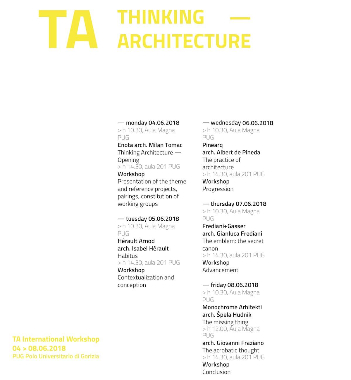 TA 2018 programma