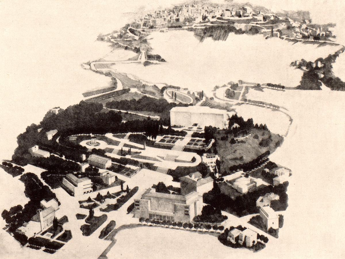"""Mario Paniconi Piano paesaggistico per Fiuggi da """"Architettura"""", 1933, p. 327"""