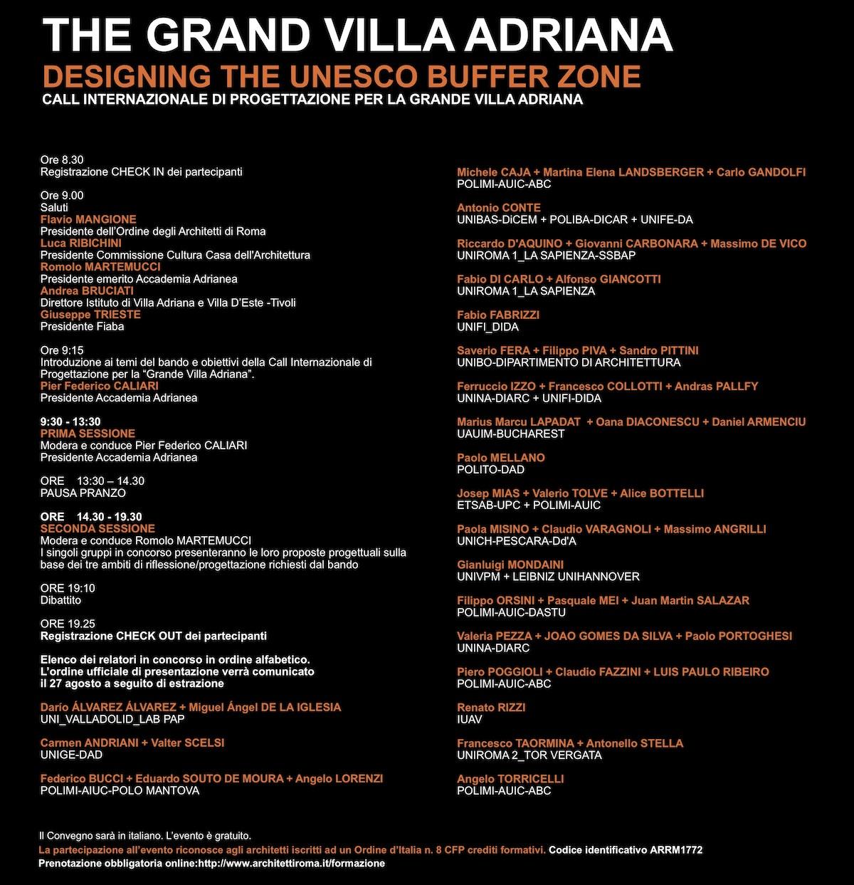 VillaAdrianaprogramma