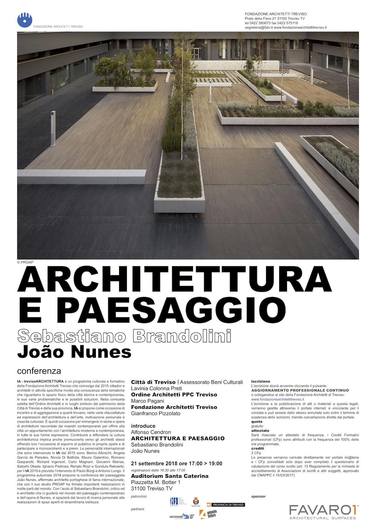 Architettura e paesaggio conferenza di João Nunes e Sebastiano Brandolini
