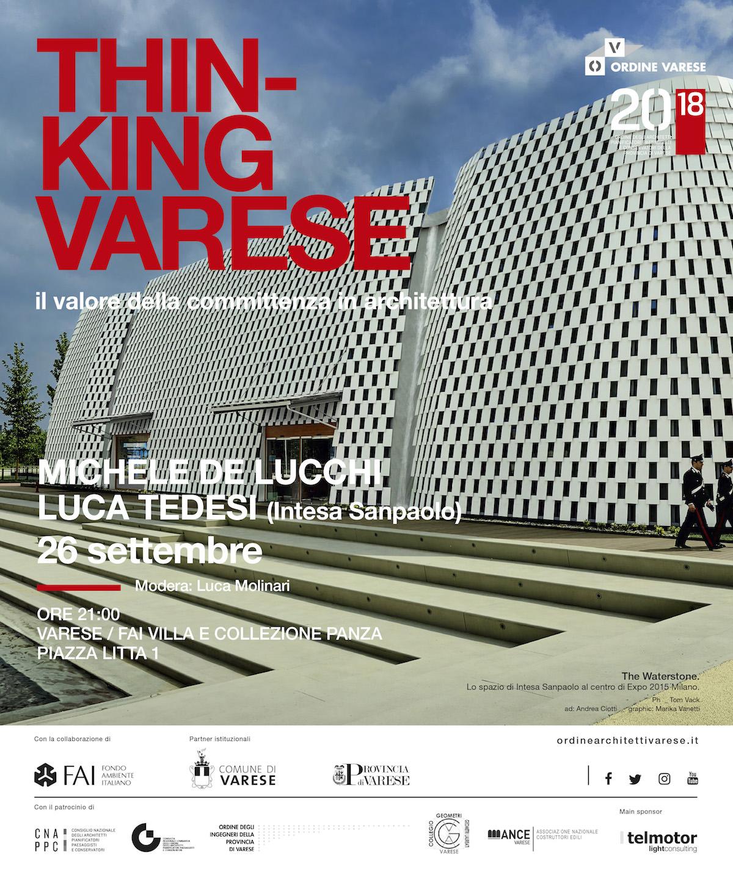 incontro con Michele De Lucchi e Luca Tedesi