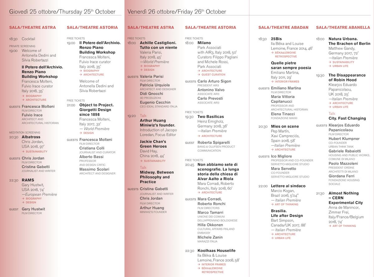 Programma MDFF2018 a