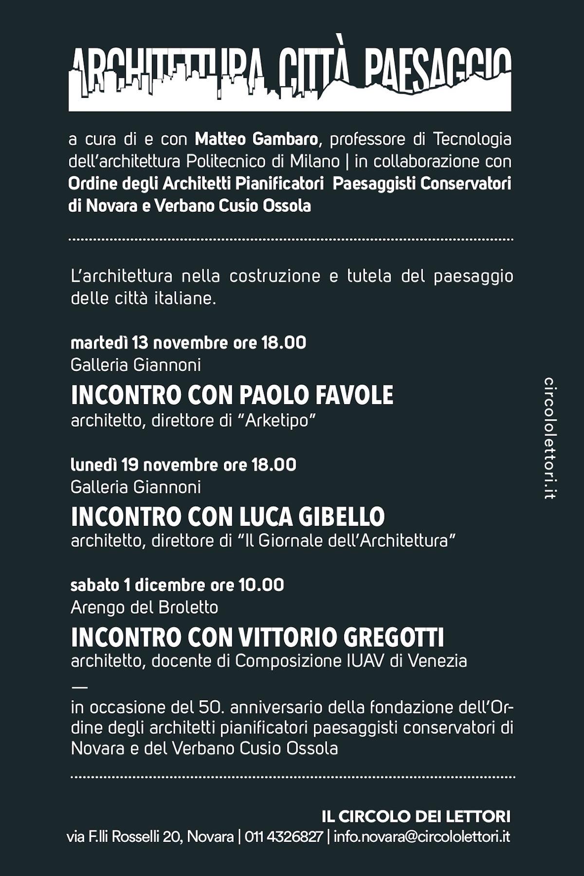Architettura Città Paesaggio Novara