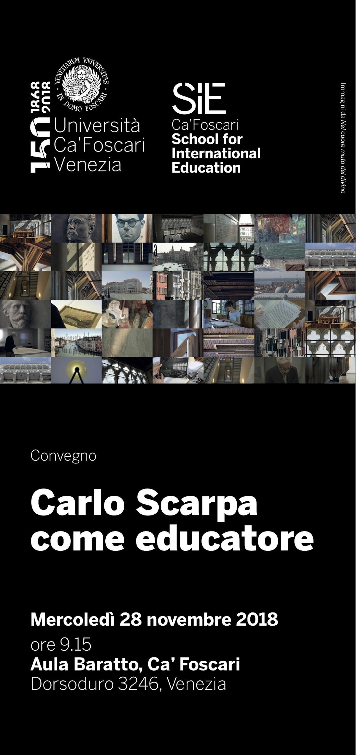 Carlo Scarpa come educatore
