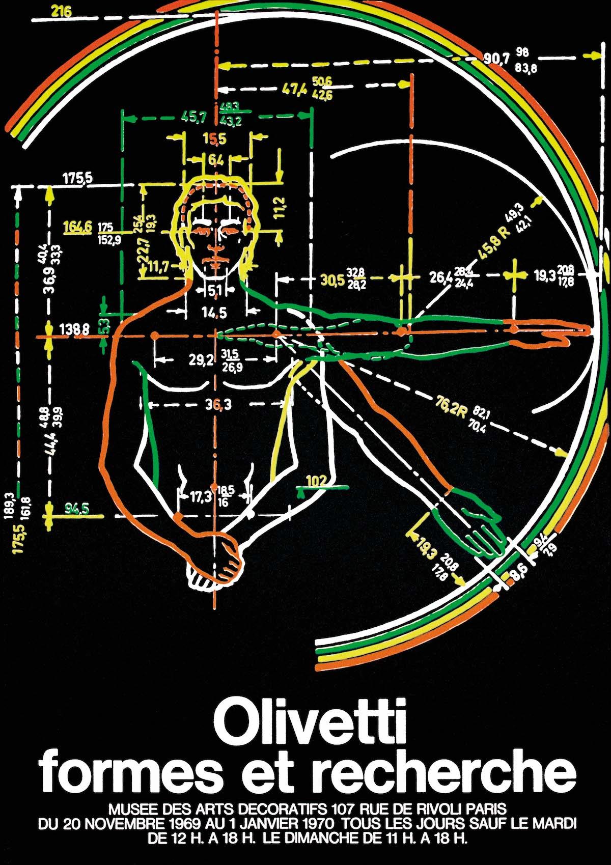 Manifesto Olivetti formes et recherche Parigi 1969