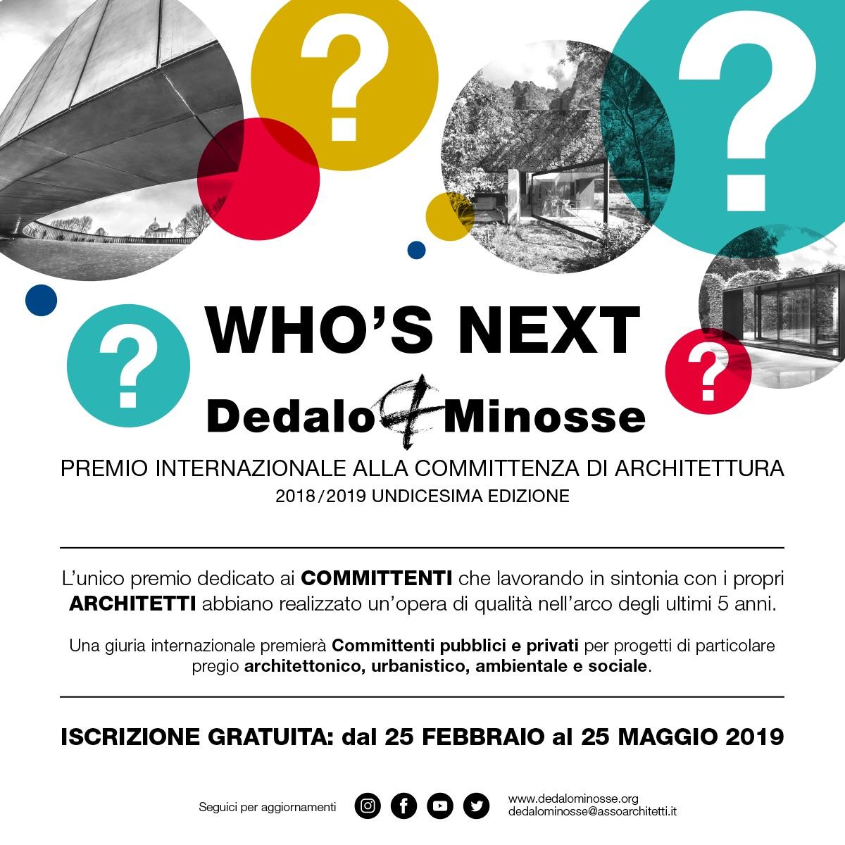 XI edizione del Premio Internazionale Dedalo Minosse