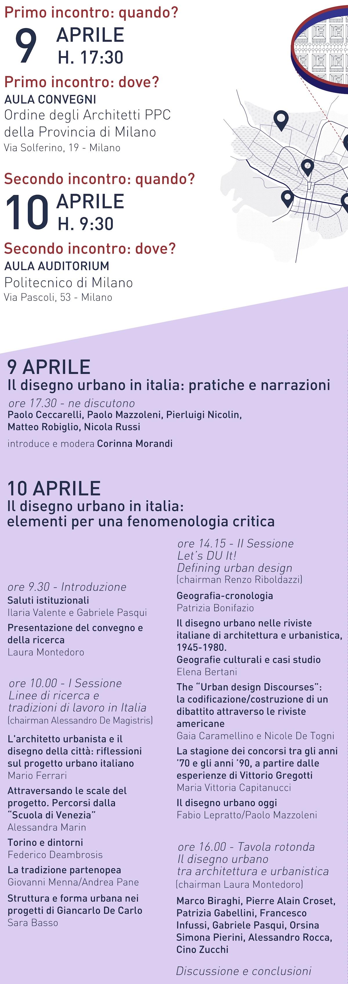 Disegno urbano in Italia 2019