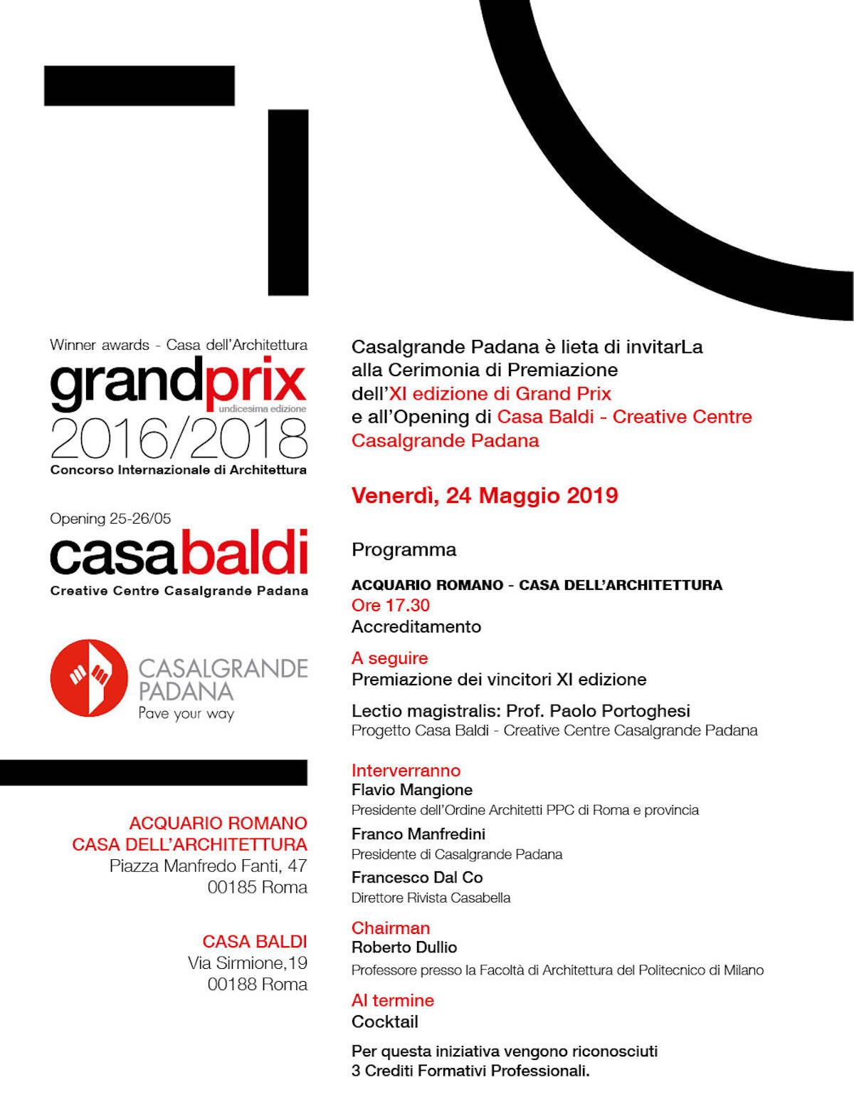 Grand Prix Casalgrande Padana 2019 programma